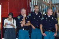 Police presence heavy